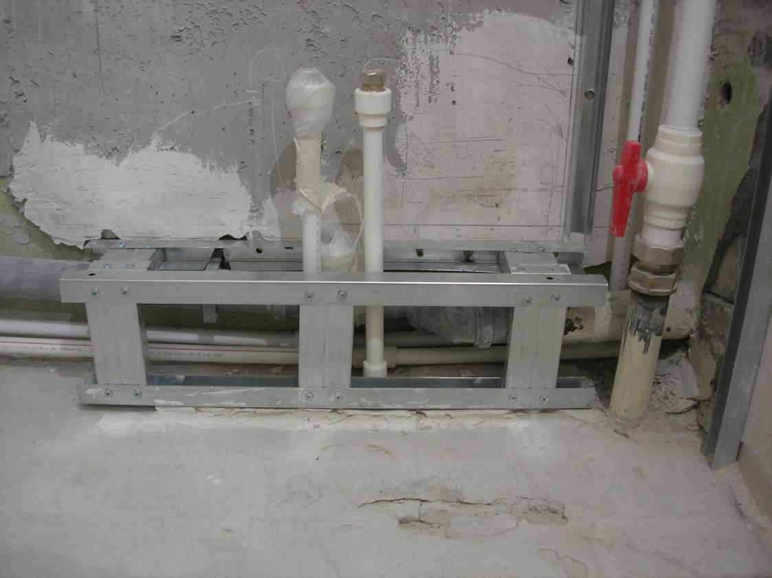 Как сделать короб для труб в ванной - собираем короб для труб 58